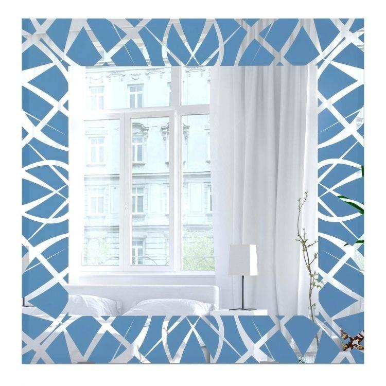 Mirrors : Blue Framed Wall Mirror Blue Framed Wall Mirror Blue Throughout Blue Framed Wall Mirrors (#8 of 15)