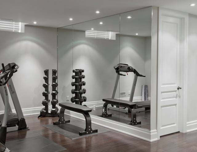 Mirrors – Contemporary – Home Gym – Toronto  Jj Home Products Inc With Wall Mirrors For Home Gym (#13 of 15)