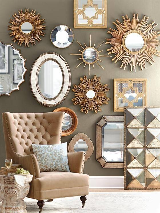 Mirrors Decoration On The Wall | Novicap (View 5 of 15)