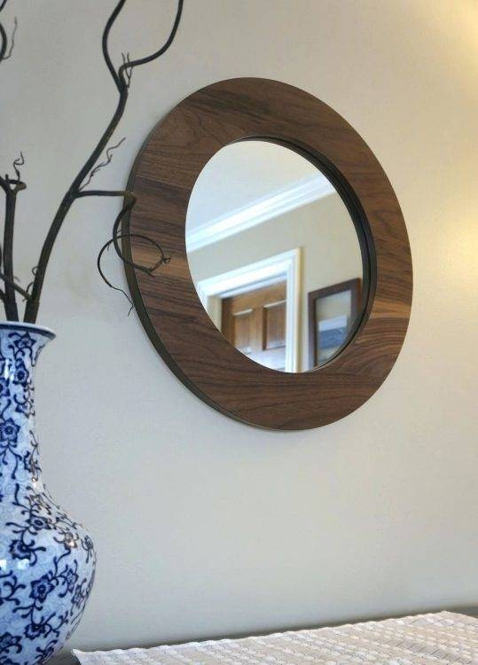 Mirrors : Walnut Round Mirror 31 Seattle Oval Tilting Mirror Heals With Seattle Custom Mirrors (View 6 of 15)