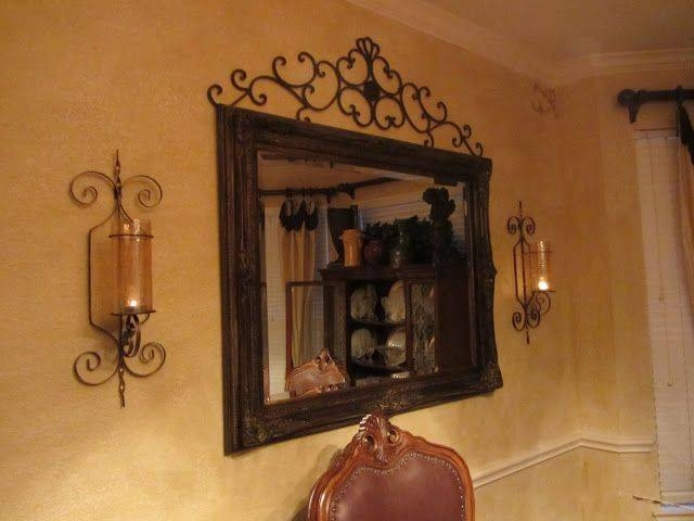 Mirrors With Side Wall Lighting In Livingroom | Embellishments Inside Tuscan Style Wall Mirrors (View 5 of 15)