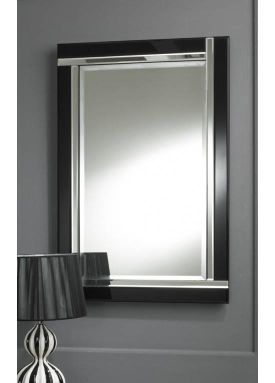 15 Best Ideas Of Modern Black Wall Mirrors