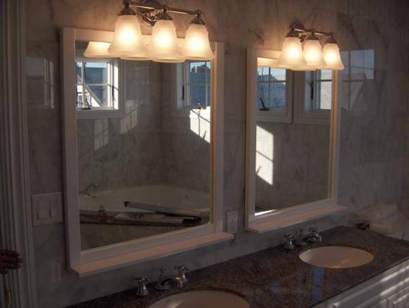 Modern Bathroom Vanities Light Ideas With 6 Vanity Light And 2 Regarding Bathroom Lights And Mirrors (#13 of 15)