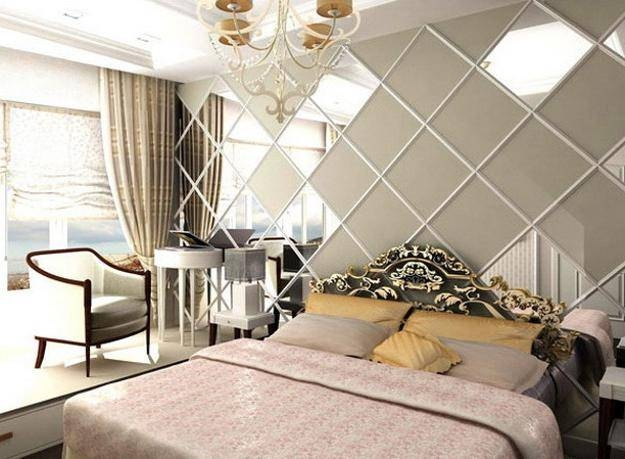 Modern Bedroom Decorating Ideas Square Shaped Framed Wall Mirrors Within Wall Mirrors For Bedrooms (#14 of 15)