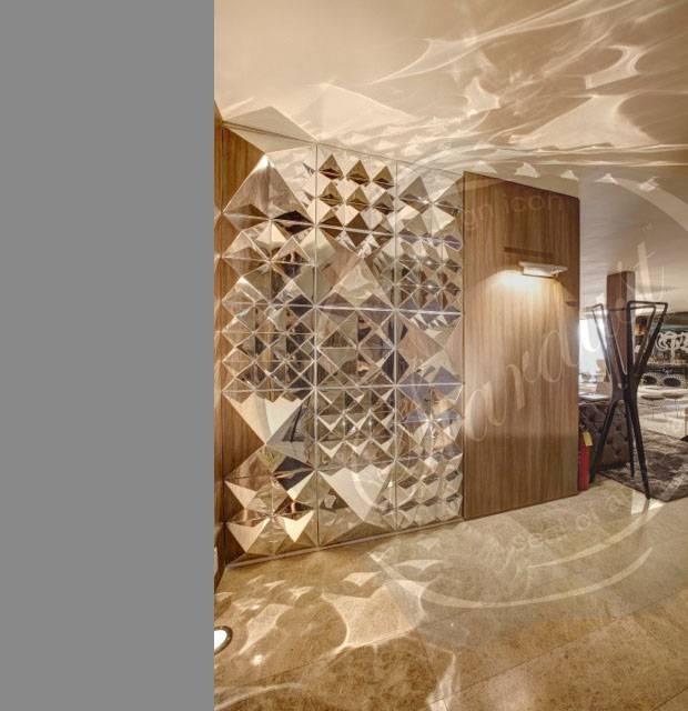 Modern Interior Design: Panton Modern Mirror Panton Wall Sculpture For Panel Wall Mirrors (#14 of 15)