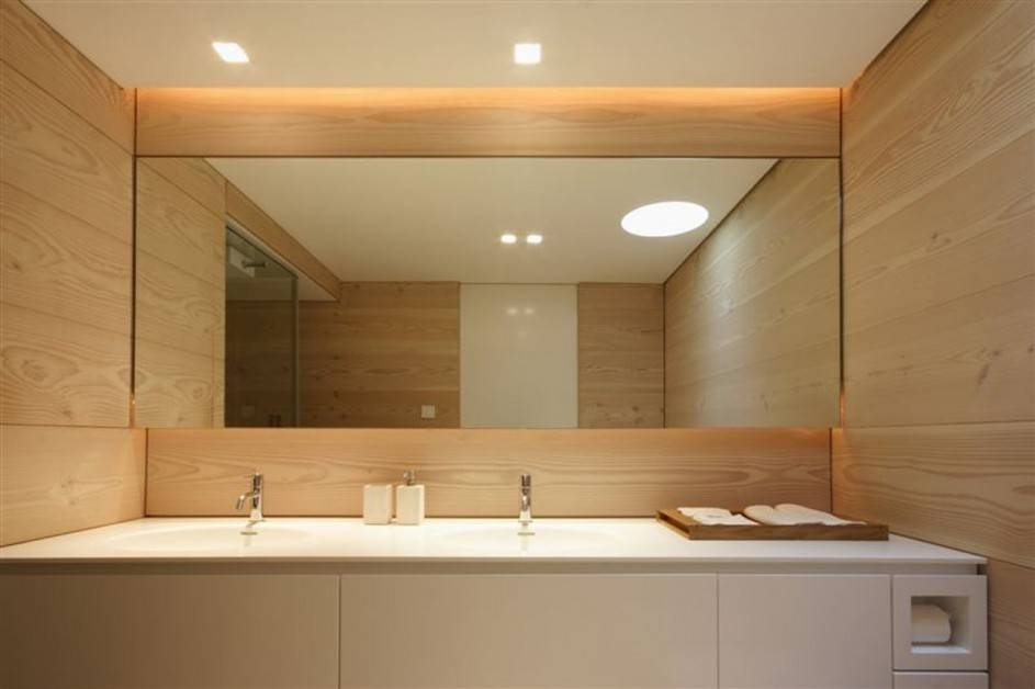 Modern Large Bathroom Mirror : Doherty House – Large Bathroom Within Large Wall Mirrors For Bathroom (#14 of 15)