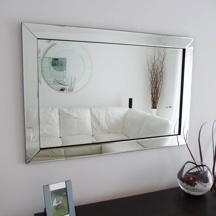 Modern Mirrors | Contemporary Mirrors | Exclusive Mirrors Within Large Silver Framed Wall Mirror (#12 of 15)