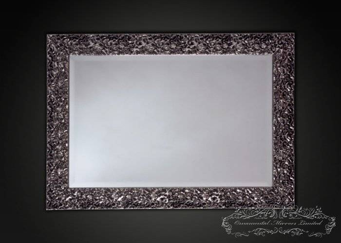 Modern Rectangular Silver Wall Mirror From Ornamental Mirrors Limited Inside Rectangle Wall Mirrors (View 10 of 15)