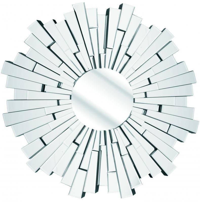 Modern Round Sunburst Wall Mirror (#11 of 15)