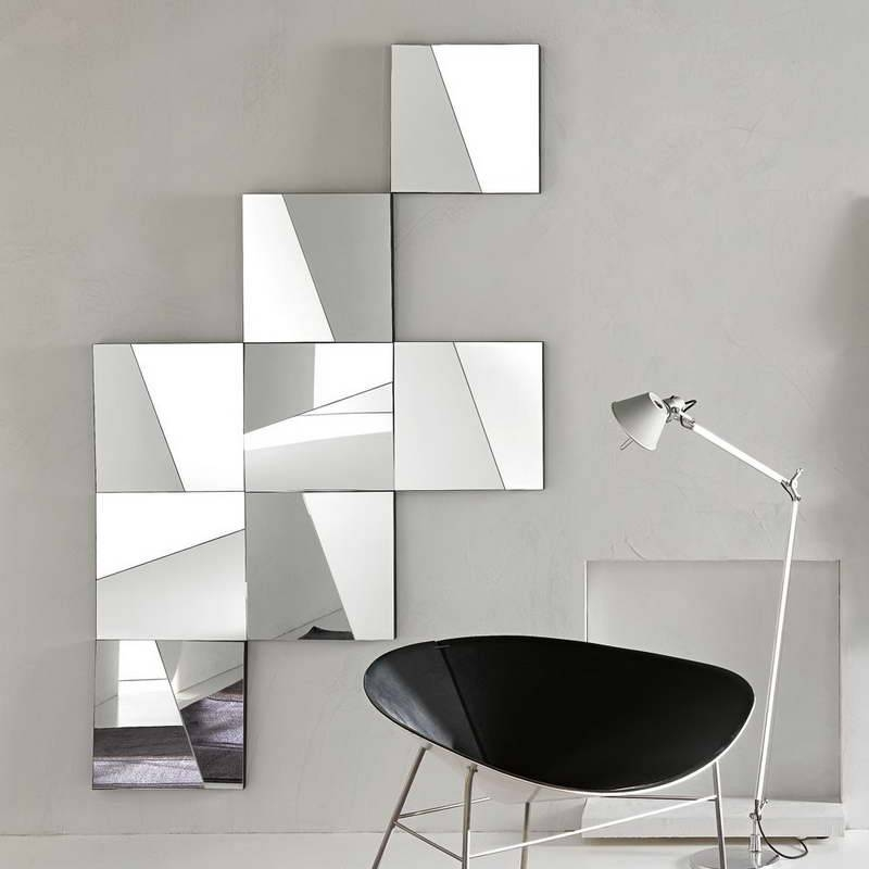 Modern Wall Mirrors Square : Doherty House – Decorate With In Trendy Wall Mirrors (#12 of 15)