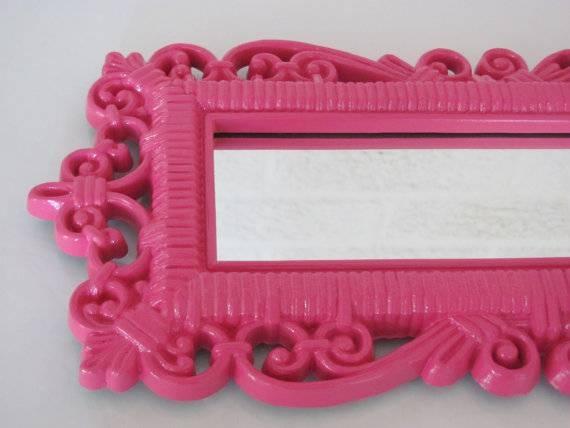Modest Design Pink Wall Mirror Project Ideas Buy Pink Wall Mirrors With Girls Wall Mirrors (#9 of 15)