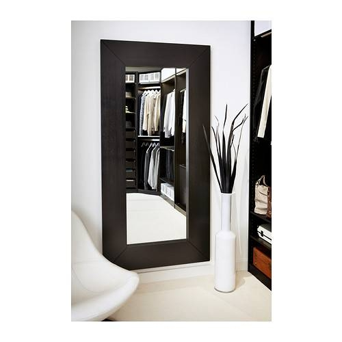 Mongstad Mirror Black Brown 94X190 Cm – Ikea Throughout Ikea Full Length Wall Mirrors (#9 of 15)