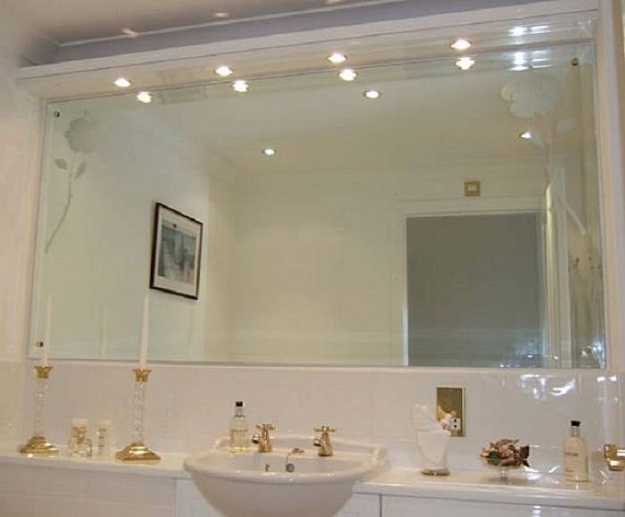 Mosaic Bathroom Decorative Wall Mirrors, Modern Bathroom Mirrors Regarding Frames For Bathroom Wall Mirrors (#15 of 15)