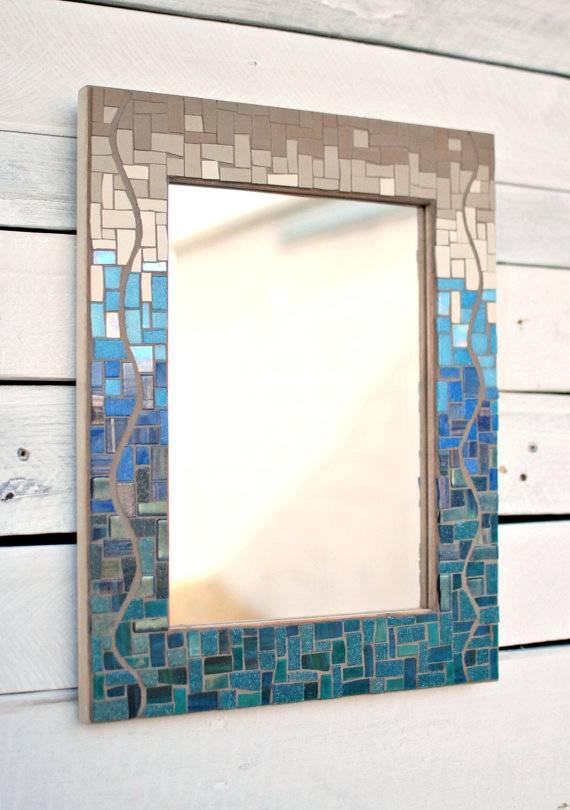 Popular Photo of Glass Mosaic Wall Mirrors