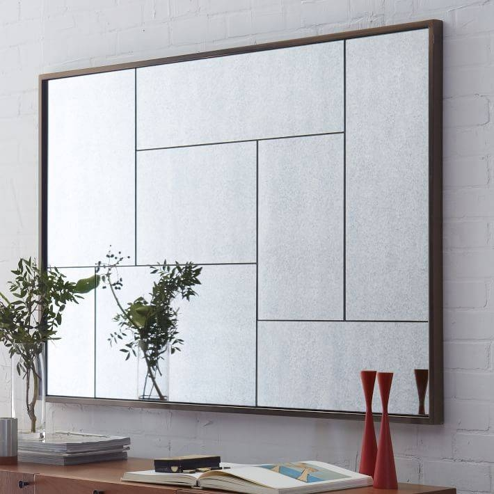 Multi Panel Foxed Mirror | West Elm Inside Panel Wall Mirrors (#15 of 15)