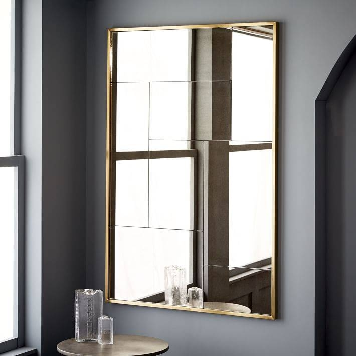 Multi Panel Foxed Mirror | West Elm Within Multi Panel Wall Mirrors (#13 of 15)