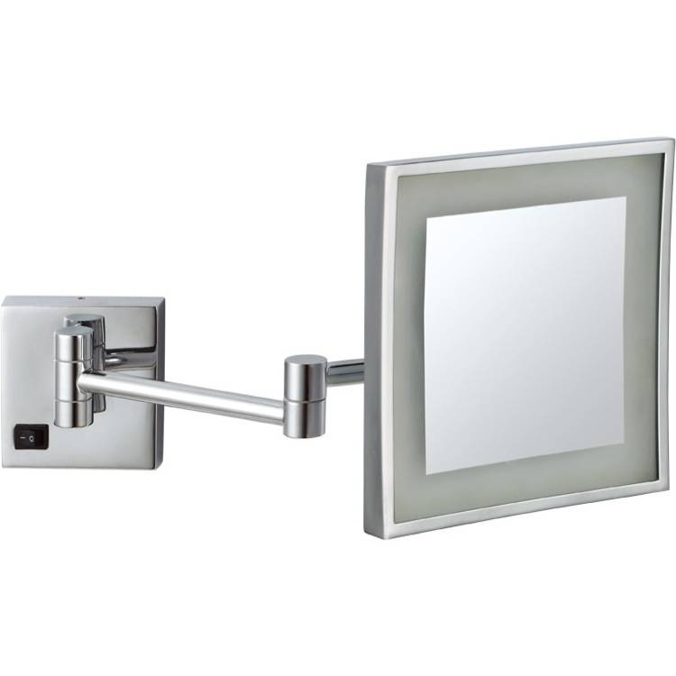 Nameeks Ar7701Nameek's Glimmer Square Wall Mounted Led Throughout Magnifying Wall Mirrors (#12 of 15)