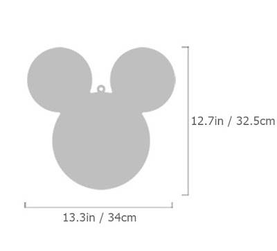 New 1set 4pcs Mickey Mouse Character Wall Mirror Home Decor Throughout Mickey Mouse Wall Mirrors (View 15 of 15)