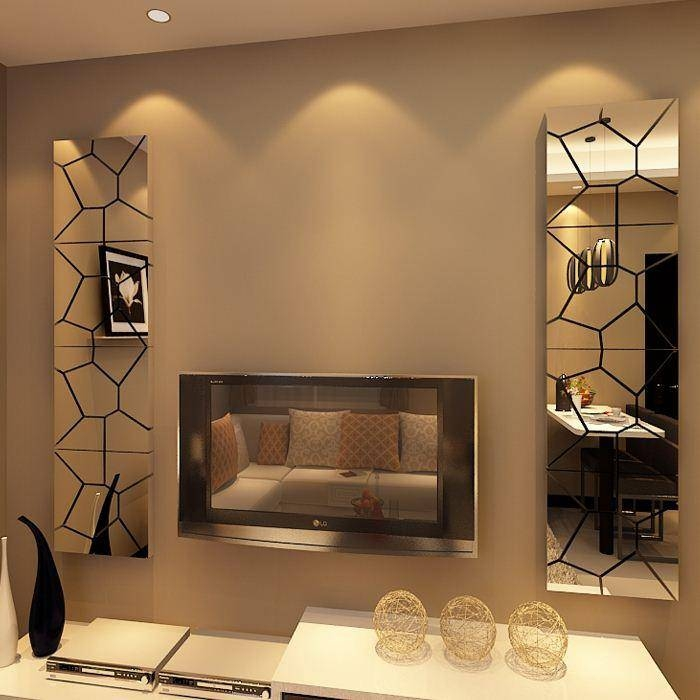 New Arrival Tv Mirror Wall Stickers 3D Abstract Mirror Geometric Intended For Wall Mirror Stickers (#10 of 15)