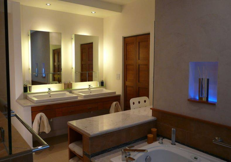 Nice Idea Mirror Lights Bathroom How To Pick A Modern With For Bathroom Mirrors Lights (#15 of 15)