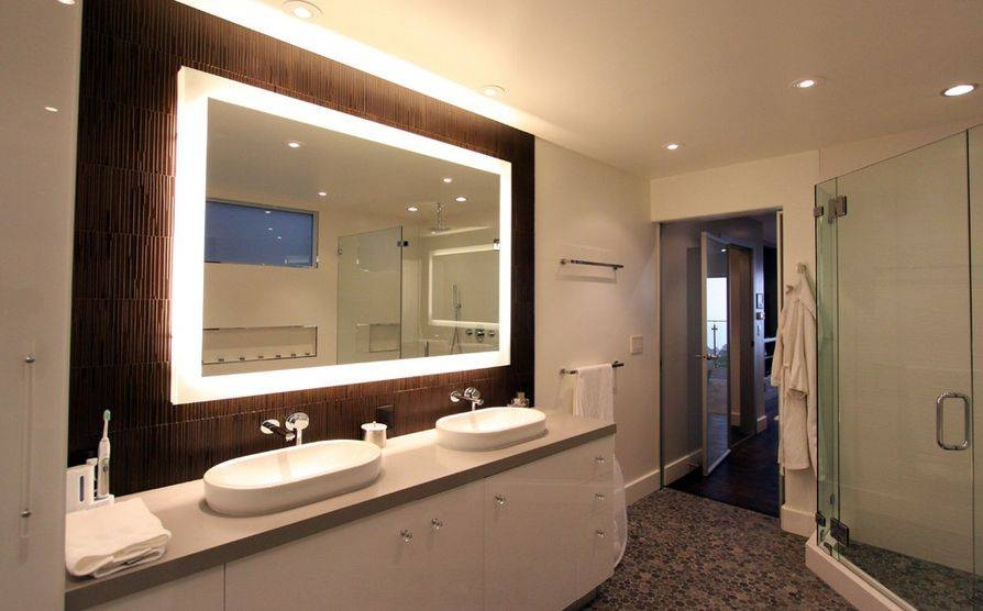 Nice Idea Mirror Lights Bathroom How To Pick A Modern With Intended For Vanity Mirrors With Built In Lights (View 13 of 15)