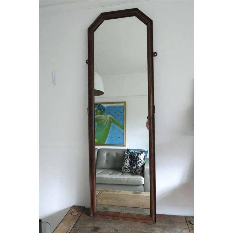 Oak Full Length Mirror Vintage Oak Full Length Mirror Oak Framed In Framed Full Length Wall Mirrors (#11 of 15)