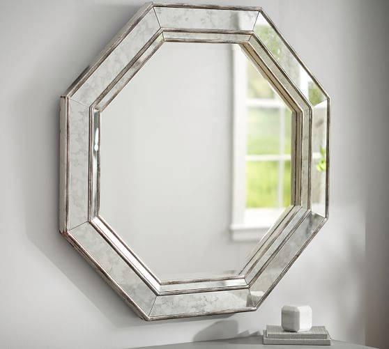Octagon Wall Mirror | Pottery Barn Within Pottery Barn Wall Mirrors (#10 of 15)