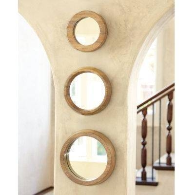 Of 3 Round Wood Mirrors – Ballard Designs Intended For Wall Mirror Sets Of  (#9 of 15)