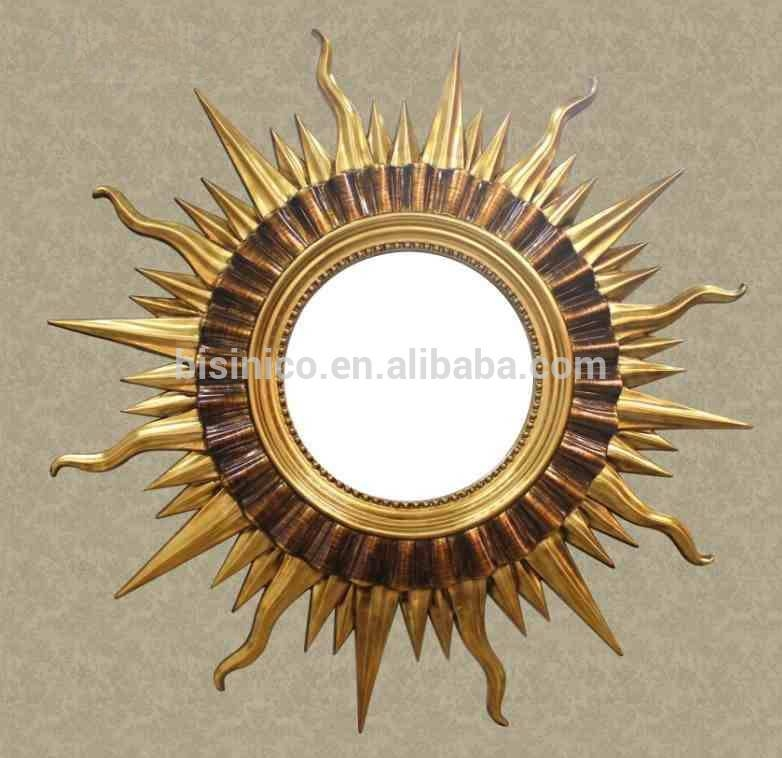 Old Fairy Tale Sun Shaped Wall Hanging Mirror,decorative Sun God Intended For Sun Wall Mirrors (#12 of 15)
