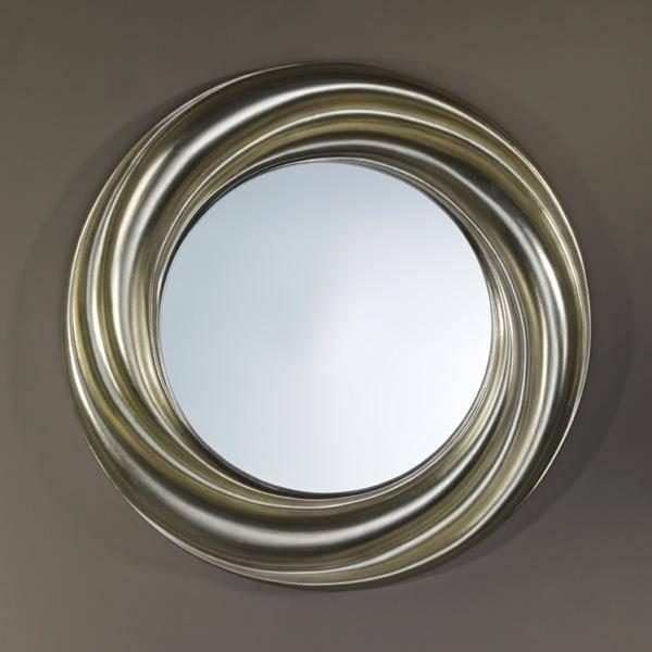 Ondule Silver Round Swirl Wall Mirrordeknudt Mirrors £ (View 7 of 15)