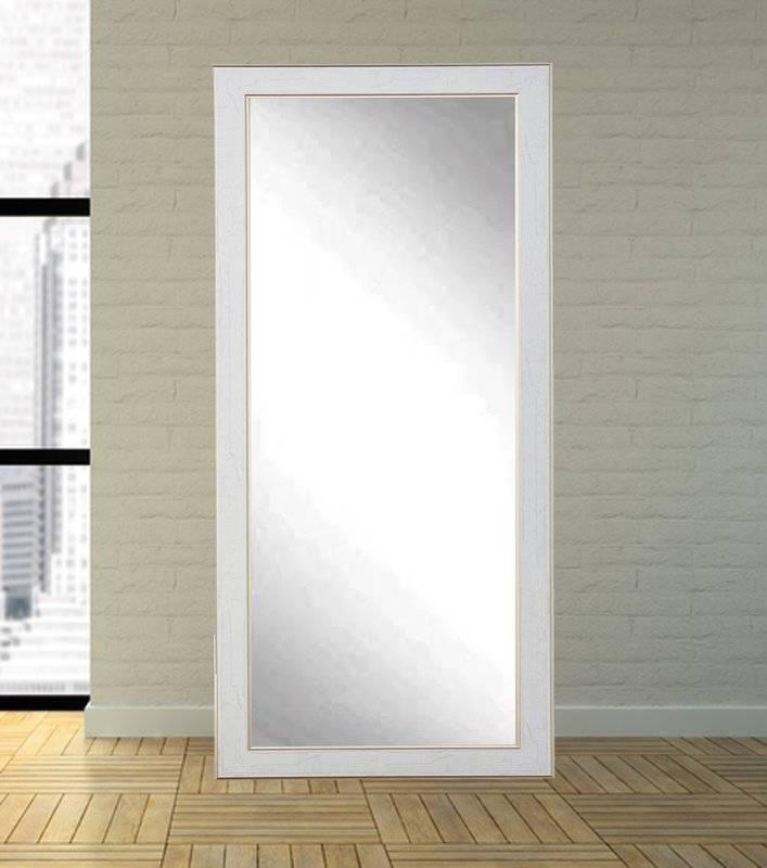 One Allium Way White/gold Cracked Full Length Wall Mirror Within White Full Length Wall Mirrors (#10 of 15)