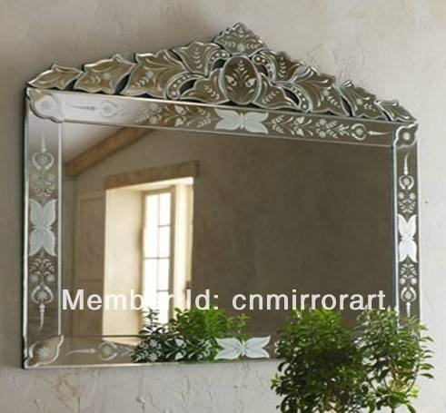 Online Shop Mr 201239 Rectangular Big Venetian Wall Mirror With With Etched Wall Mirrors (#10 of 15)