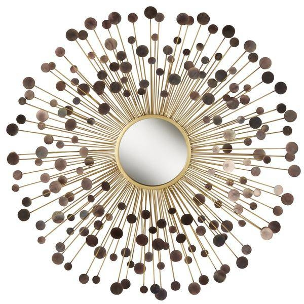 Orbits In Sunburst Metal Wall Mirror In Brown Wall Mirrors (#11 of 15)