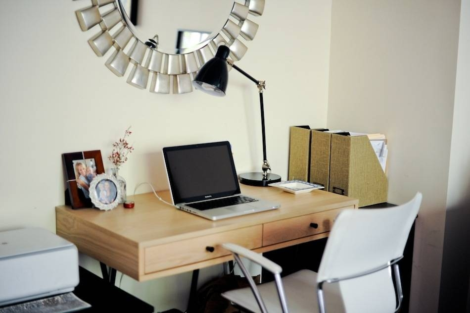 Organize Your Desk – Fashionable Hostess | Fashionable Hostess For Gilbert Wall Mirrors (#9 of 15)