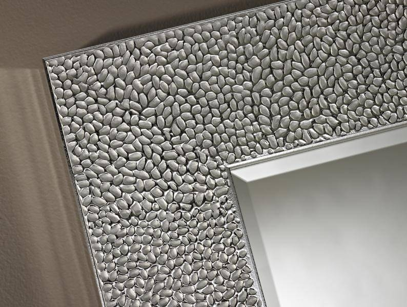 Oslo Mottled Framed Polished Silver Wall Mirrordeknudt Mirrors Throughout Silver Framed Wall Mirrors (View 8 of 15)