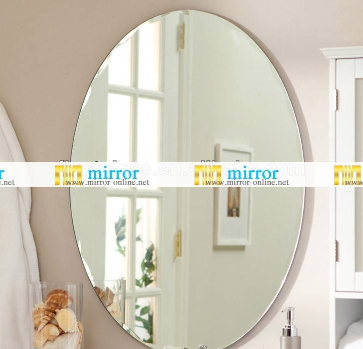 Oval Bathroom Wall Mirror, Oval Bathroom Wall Mirror, Large Oval Throughout Large Beveled Wall Mirrors (View 5 of 15)