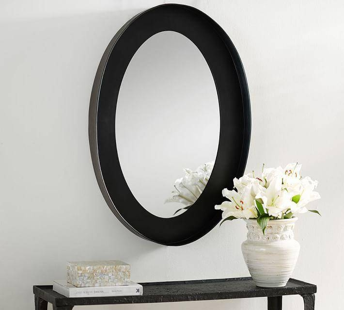 Oval Frame Wall Mirror Pertaining To Black Frame Wall Mirrors (#14 of 15)