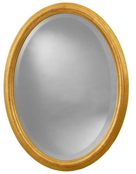 Oval Mirror Distressed Gold | Brabin & Fitz Intended For Gold Oval Mirrors (#10 of 15)