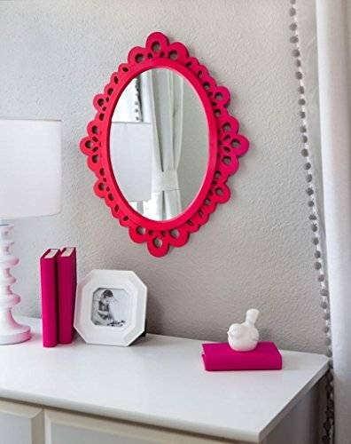 Oval Wall Mirror – Highly Decorative Wall Accessories – Use It For Within Girls Wall Mirrors (View 3 of 15)