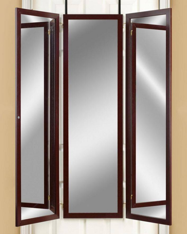 Over The Door Mirror Dressing Room Tri Fold Mirrors Hanging 3 Regarding Mirrors For Dressing Rooms (View 13 of 15)