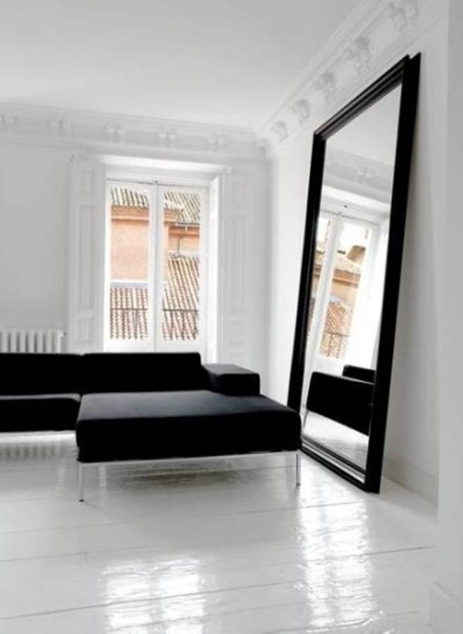 Oversized Mirror For Wall With Black Frame (View 2 of 15)