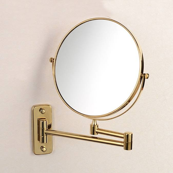 Owofan Bath Mirrors 8 Inch Bathroom Folding Brass Shave Makeup With Regard To Extendable Wall Mirrors (#14 of 15)