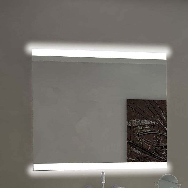 Paris Mirror Backlit Bathroom / Vanity Wall Mirror & Reviews | Wayfair Regarding Backlit Wall Mirrors (#13 of 15)