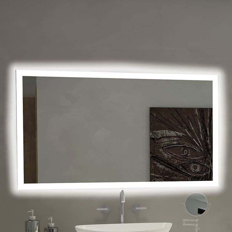 Paris Mirror Rectangle Backlit Bathroom / Vanity Wall Mirror With Backlit Wall Mirrors (#14 of 15)