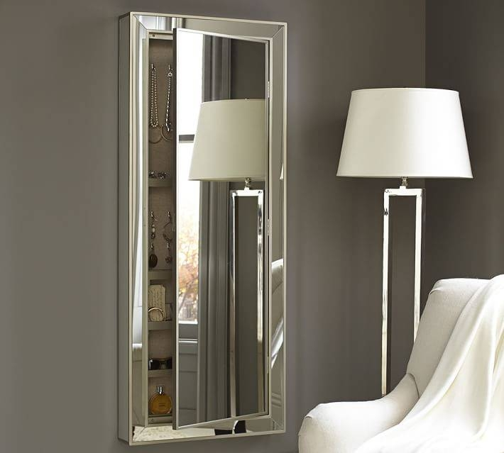 Park Mirrored Jewelry Closet | Pottery Barn With Regard To Jewelry Armoire Wall Mirrors (#8 of 15)