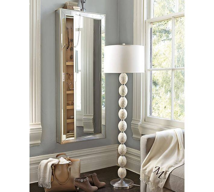 Park Mirrored Jewelry Closet | Pottery Barn With Regard To Wall Mirrors With Jewelry Storage (#14 of 15)