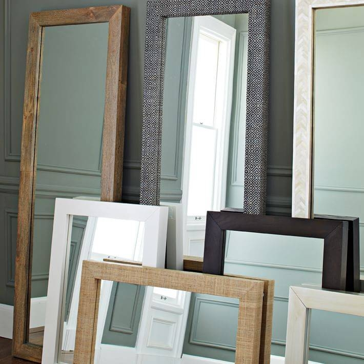 Parsons Floor Mirror – Bone Inlay | West Elm Pertaining To Parsons Wall Mirrors (#1 of 15)