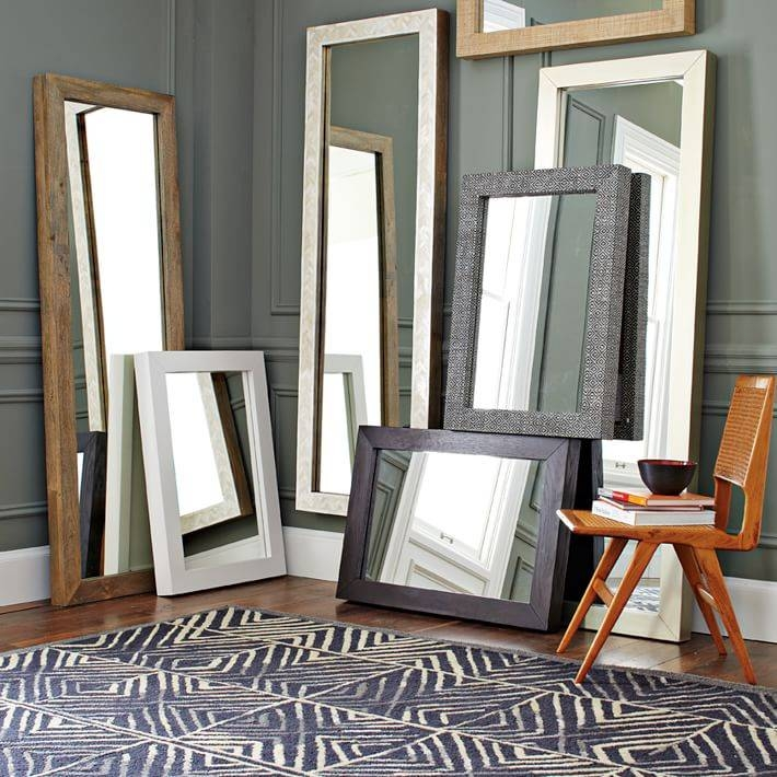Parsons Floor Mirror – Bone Inlay | West Elm Within Floor Wall Mirrors (#15 of 15)