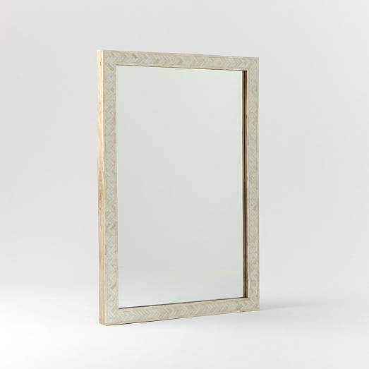 Parsons Large Wall Mirror – Bone Inlay | West Elm Regarding Parsons Wall Mirrors (#3 of 15)