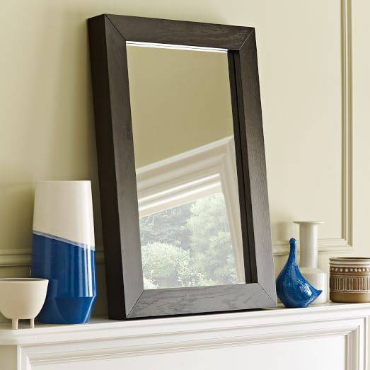 Parsons Wall Mirror – Chocolate Stained Veneer | West Elm For Parsons Wall Mirrors (#7 of 15)